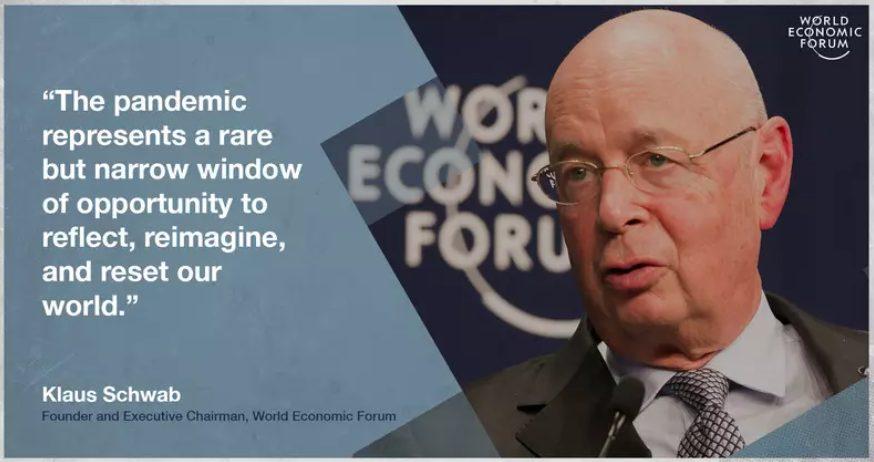Fala de Klaus Schwab, fundador e executivo do FEM. Fonte: Fórum Econômico Mundial.