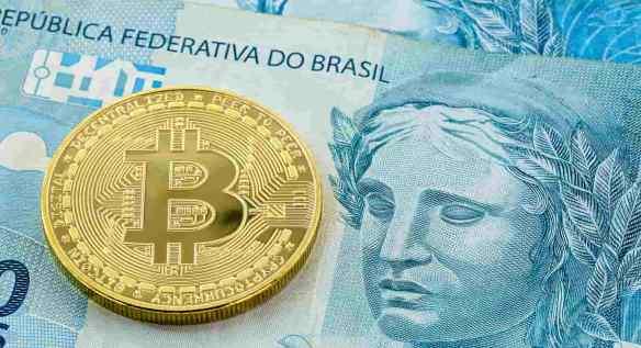 Moeda de bitcoin acima de nota de 100