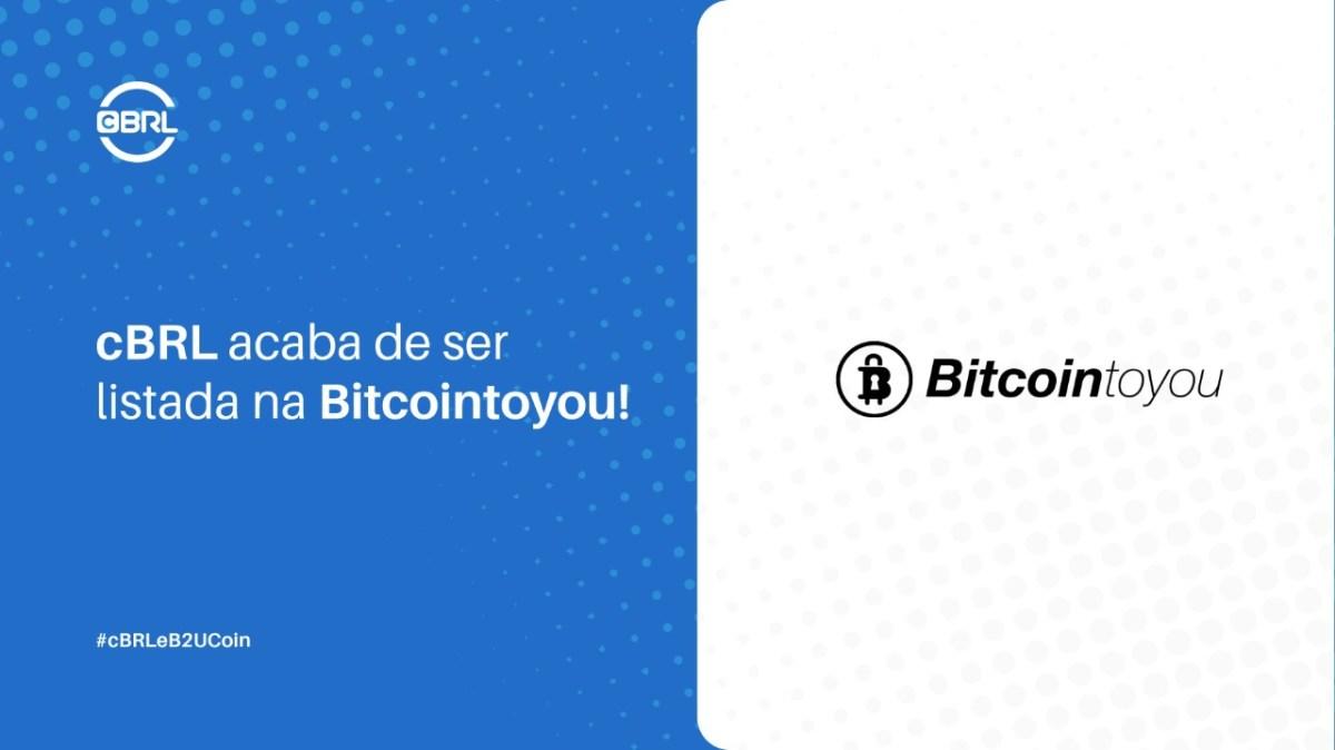 BitcoinToYou adiciona a stablecoin CryptoBRL em sua plataforma