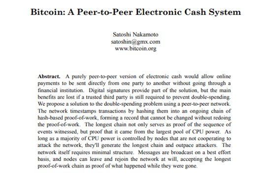 whitepaper do bitcoin, de Satoshi Nakamoto