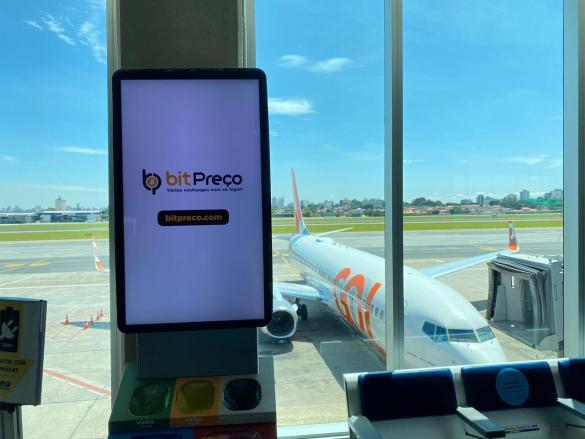 Bitpreco nos aeroportos
