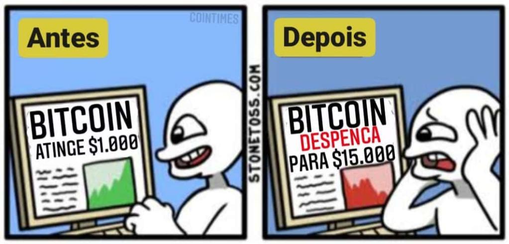 bitcoin despenca (meme)