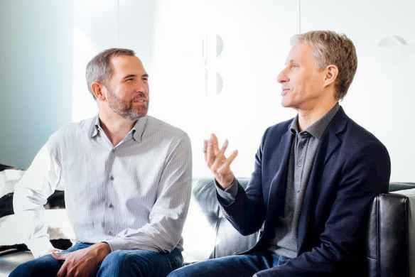 Garlinghouse e Larsen, executivos da Ripple