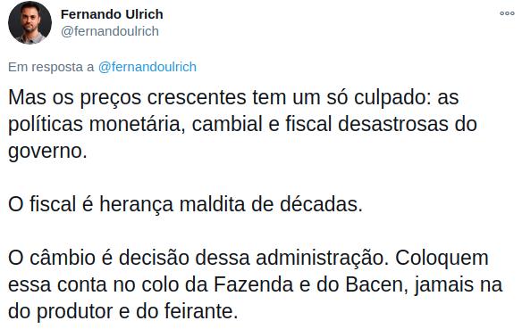 Fernando Ulrich inflação