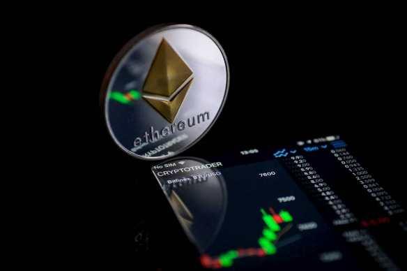 moeda ethereum com cotação no celular