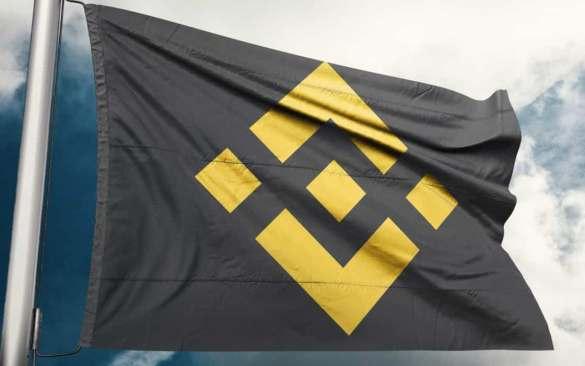 Símbolo da Binance bandeira