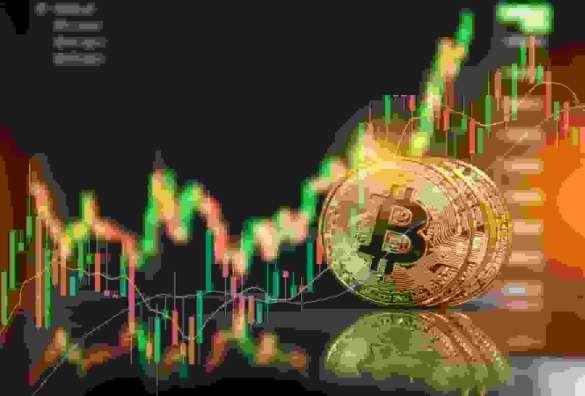 Moeda de ouro de Bitcoin