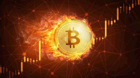 Bitcoin subindo pegando fogo