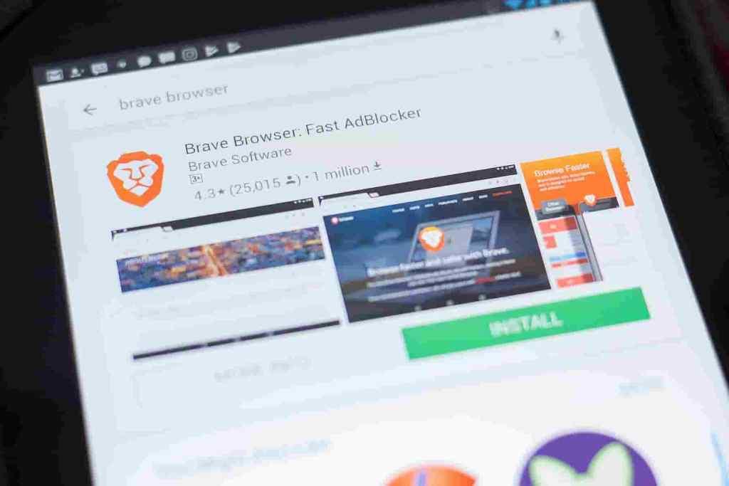 Navegador Brave Browser para celular