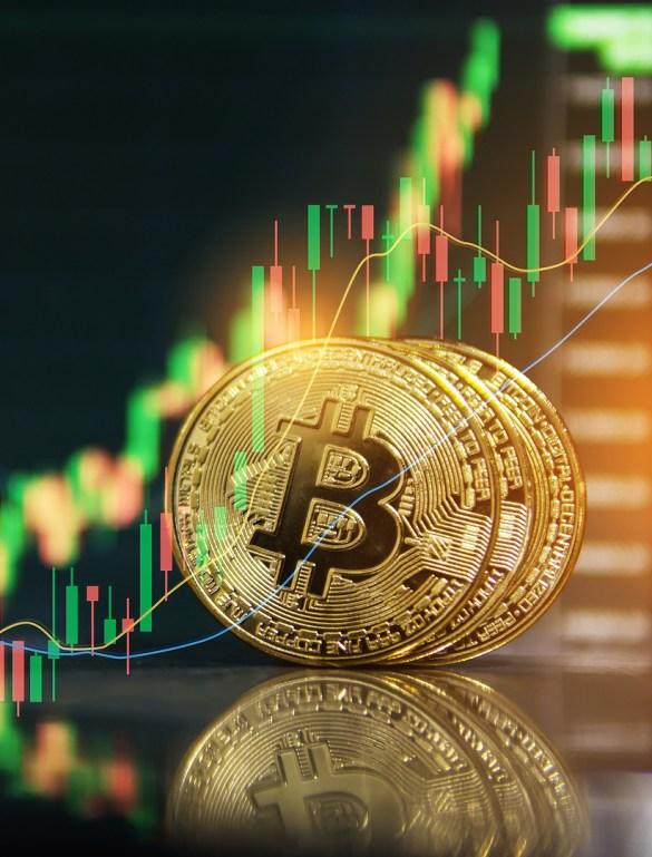 Moeda de ouro do Bitcoin