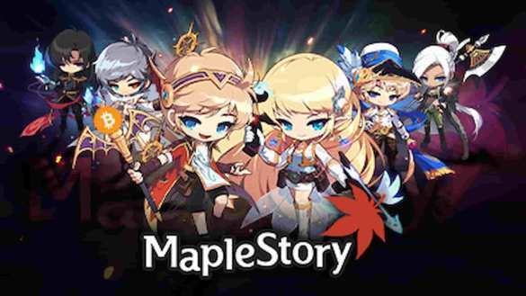 MapleStory com cajado de bitcoin