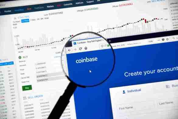 Ações da Coinbase são tokenizadas em corretoras de criptomoedas