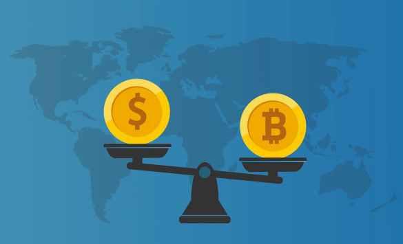 Bitcoin na balança com o dólar