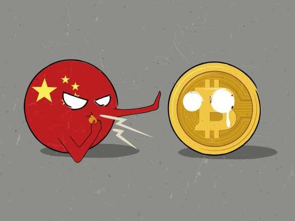 China banindo o bitcoin