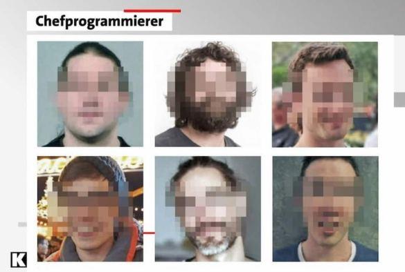 Desenvolvedores do Bitcoin com seus rostos pixelados. Reprodução/TV Kontraste.