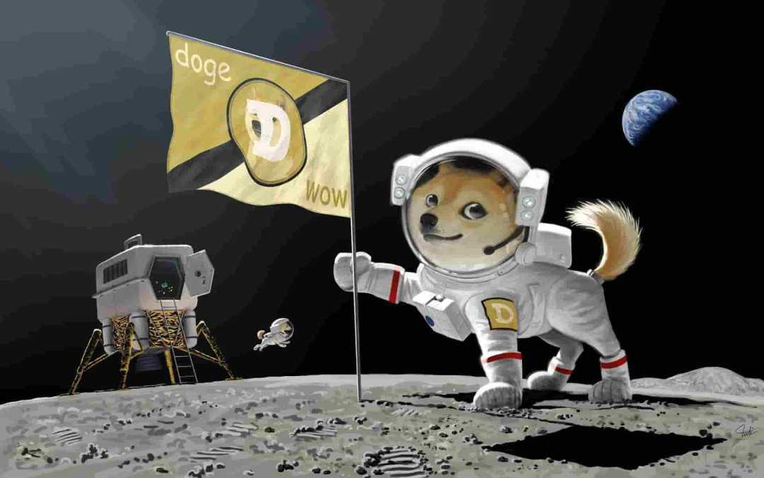 Dogecoin vai para Lua após ser aceita como pagamento pela SpaceX