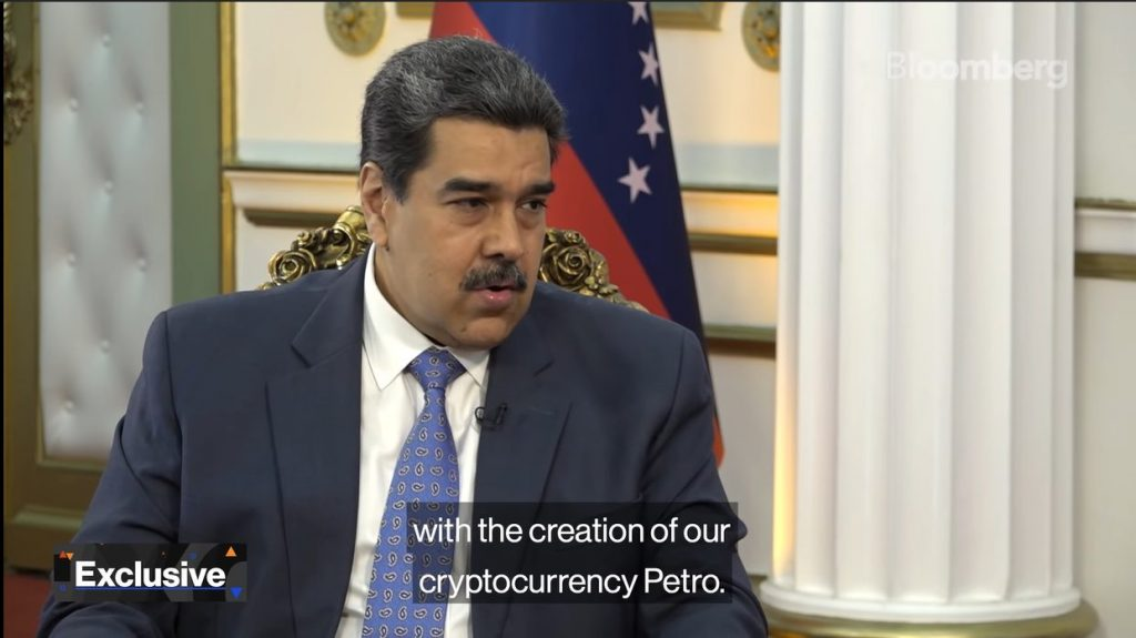 Nicolas Maduro, Ditador na Venezuela, em entrevista para Bloomberg.