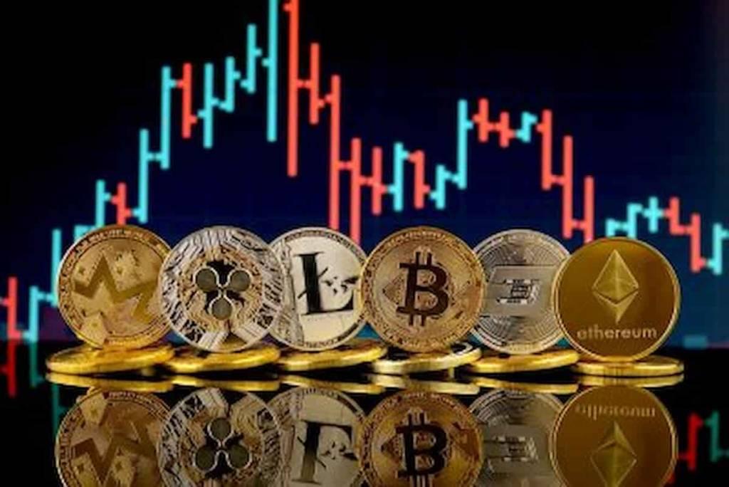 Bitcoin e altcoins no vermelho