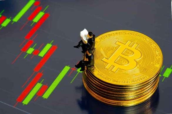 Jornal bitcoin e gráfico do preço