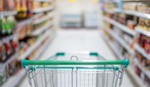 Supermercado, inflação chegou