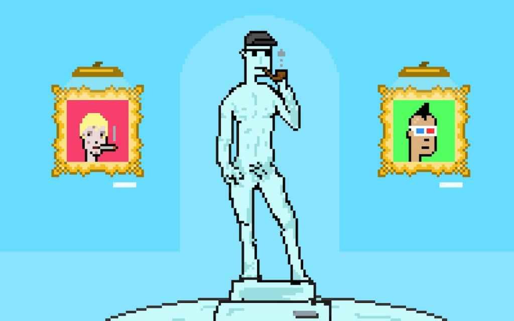 Estátua digital de CryptoPunk