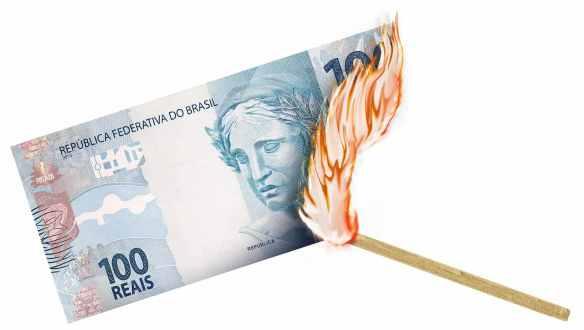 Real queimado pela inflação
