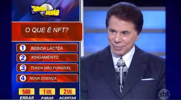 Silvio Santos no show do milhão com NFT