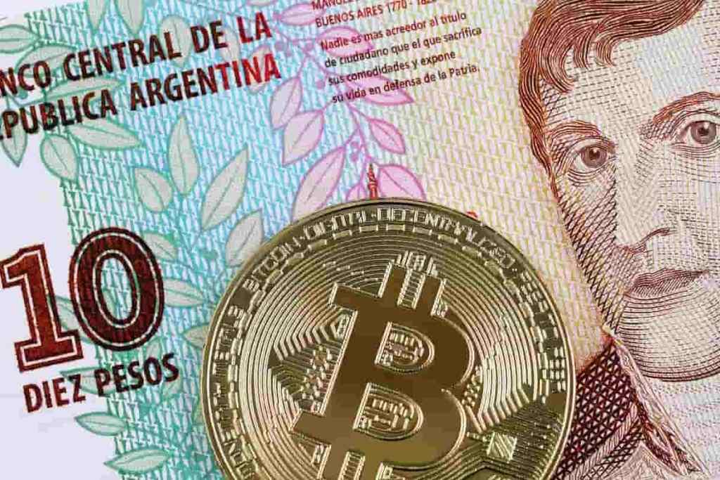 Bitcoin e peso argentino