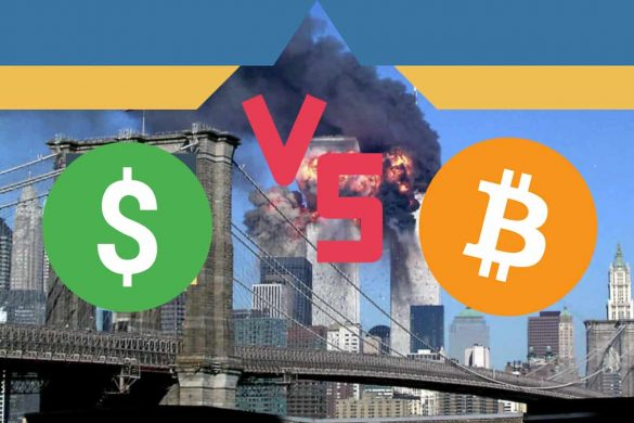 Queda das torres 11 de setembro dolar e Bitcoin