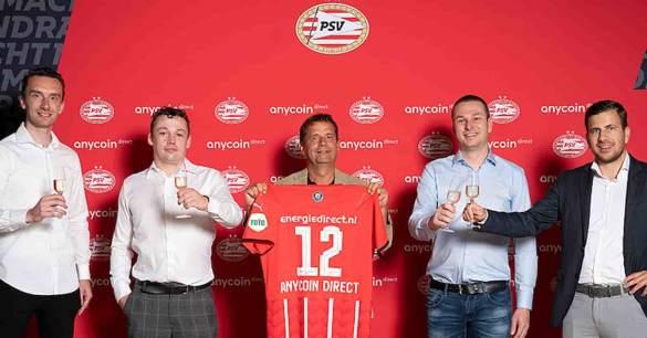 PSV fecha parceria com exchange de bitcoin Anycoin