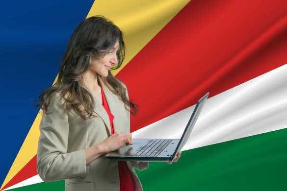 Seychelles mulher fazendo trade